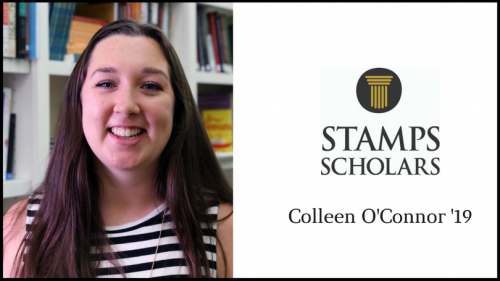 Stamps Scholar Colleen O'Connor