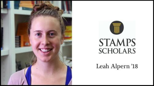 Stamps Scholar Leah Alpern