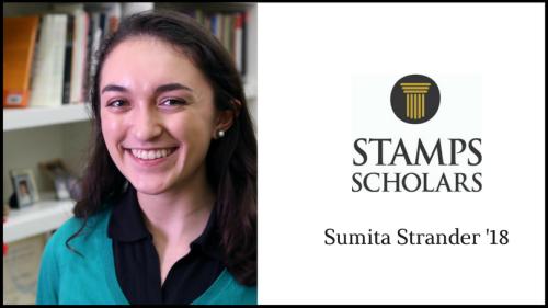 Stamps Scholar Sumita Strander