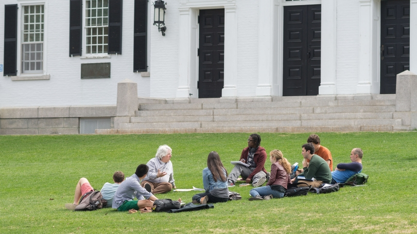 A class on the Dartmouth Green