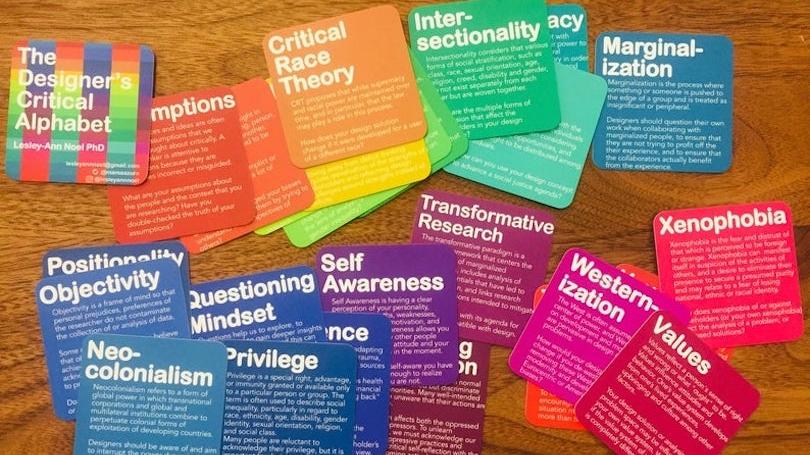 Designer's Critical Alphabet cards