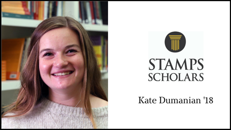 Stamps Scholar Kate Dumanian