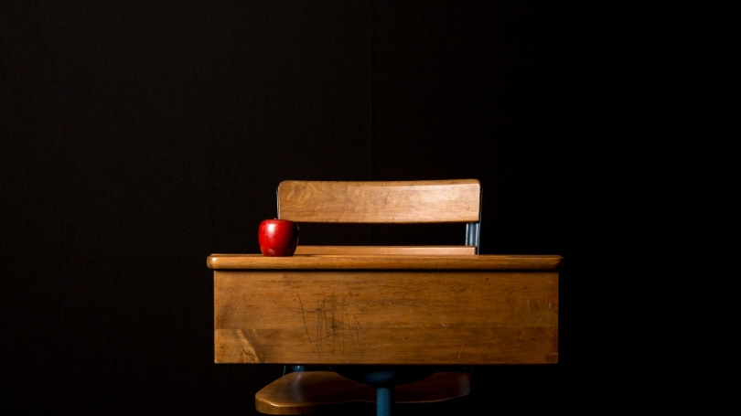 Space for Learning: Desk with apple