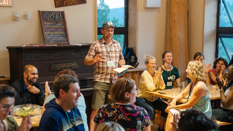 Moosilauke Ravine Lodge, instructional designer Michael Goudzwaard leads DELTA Summit